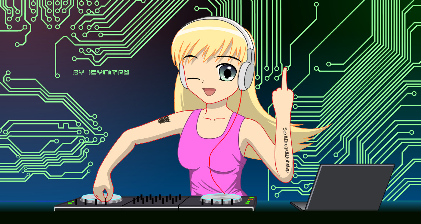 Dubstep girl wallpaper 1080p